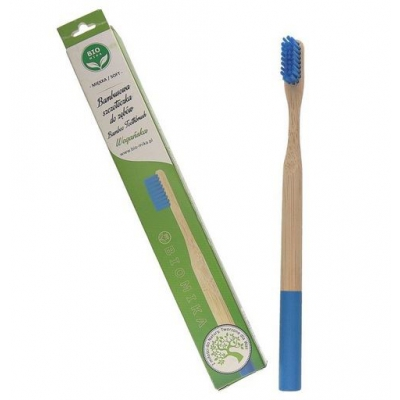 Bambusowa szczoteczka do zębów niebieska miękka