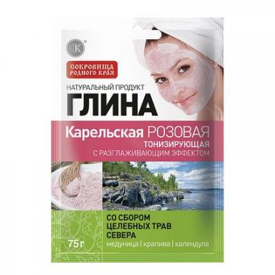 Glinka różowa Karelska Tonizująca 75g