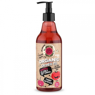 Planeta Organica Żel pod prysznic Cherry Splash - Organiczna Wiśnia + Dziki Pomidor 500ml