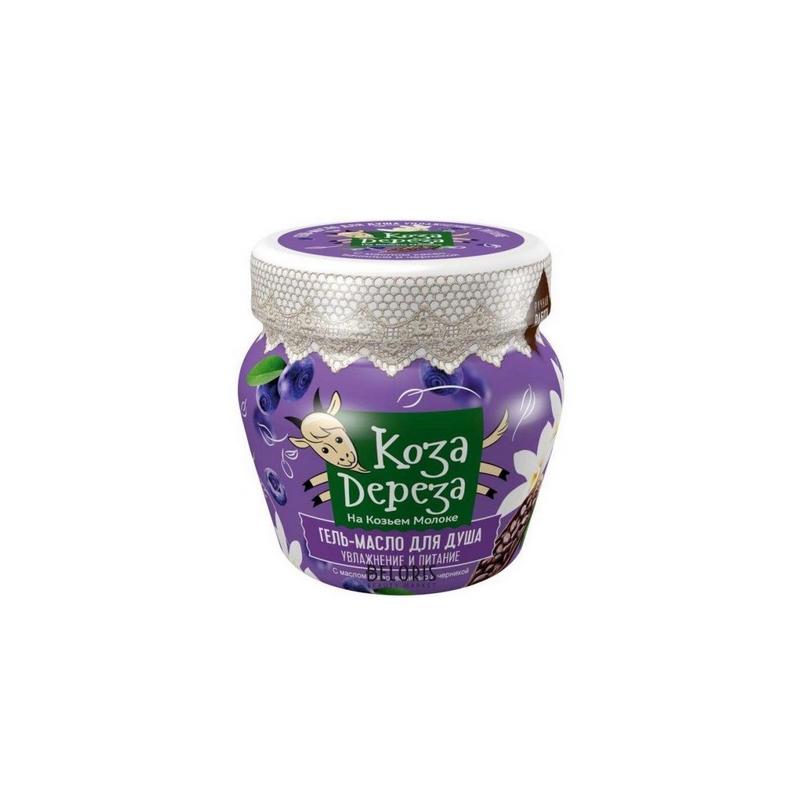 Koza Dereza Żel-olejek pod prysznic Odżywienie i nawilżenie z masłem kakaowym, wanilią i borówką 175ml