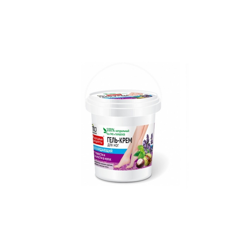 Naturalny żel - krem odżywczo - chłodzący do stóp 155ml