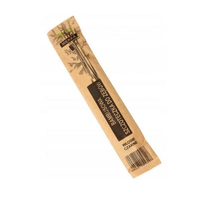 Bambusowa szczoteczka do zębów czarny włos