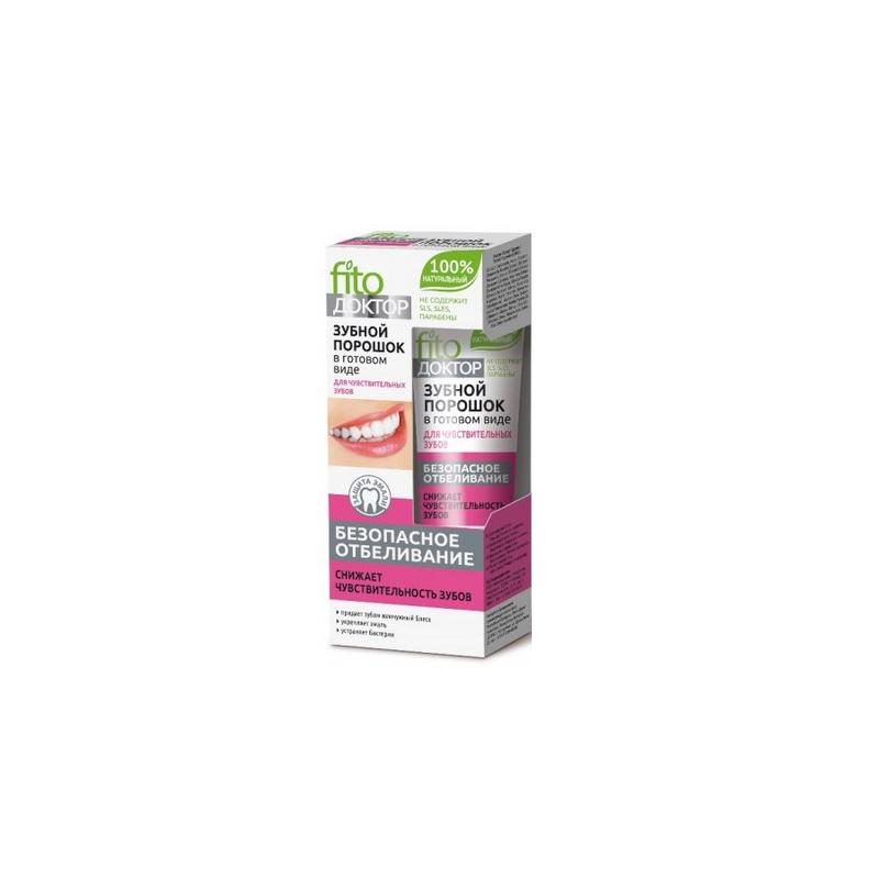 Proszek do zębów w gotowej formie Dla wrażliwych zębów - bezpieczne wybielanie 45ml