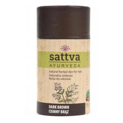 Henna Sattva Farba do włosów Dark Borwn - Ciemny brąz 150g
