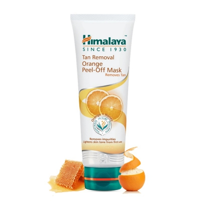 Himalaya Pomarańczowa Maska Pell-Off rozjaśniająca skórę (Tan Removal Orange Peel-Off Mask) 75 ml