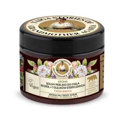 Agafia Tajga Peeling do ciała Solny Aroma 30 ziół + 7 olejków eterycznych 300ml