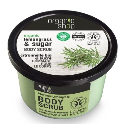 Organic Shop Peeling do ciała Trawa cytrynowa & Cukier 250ml
