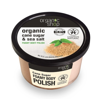 Organic Shop Pasta do ciała Cukier trzcinowy Sól morska 250ml