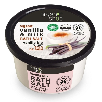 Organic Shop Sól do kąpieli Mleko - wanilia 250ml