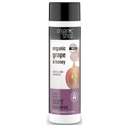 Organic Shop Szampon do włosów delikatny winogrona i miód 280ml
