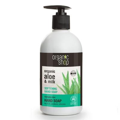 Organic Shop Mydło Aloes Mleko zmiękczające 500ml