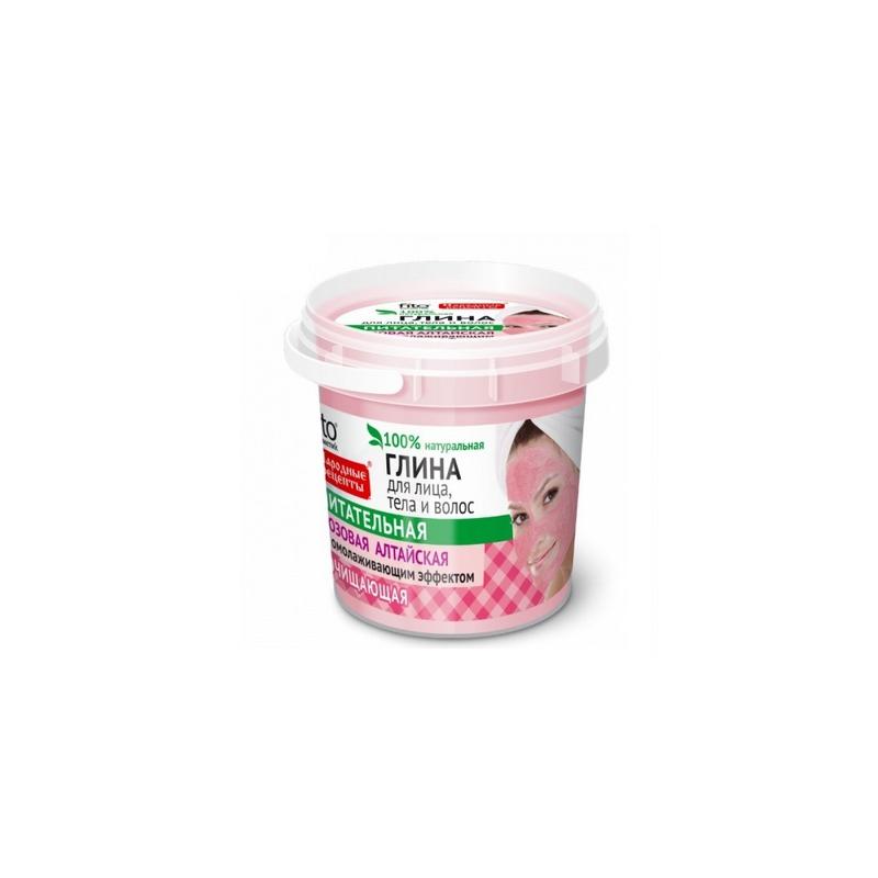 Glinka różowa Ałtajska oczyszczająca do twarzy ciała i włosów 155ml