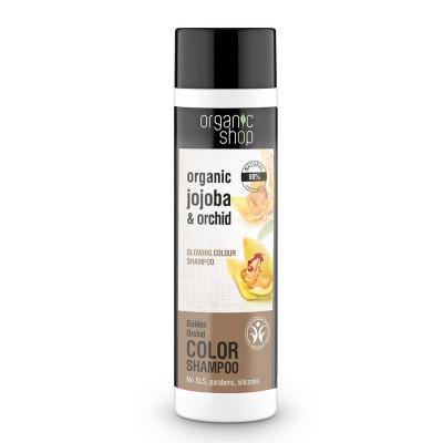 Organic Shop Szampon do włosów Złota Orchidea Jojoba do włosów farbowanych 280ml
