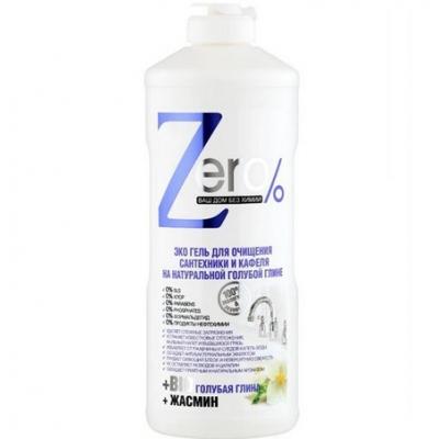 ZERO Żel ekologiczny do czyszczenia techniki sanitarnej - niebieska glinka, jaśmin 500ml